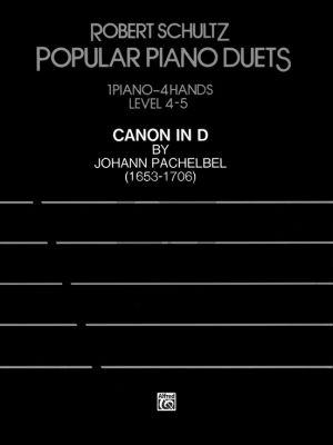 Pachelbel Canon in D Piano 4 hds (transcr. Robert Schultz) (grade 4 - 5)