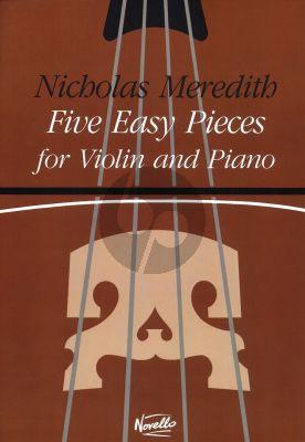 Meridith 5 Easy Pieces Violin - Piano