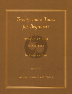 20 More Tunes for Beginners Violin and Piano