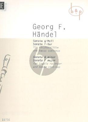 2 Sonatas (g-moll and F-major HWV 360 - 369)