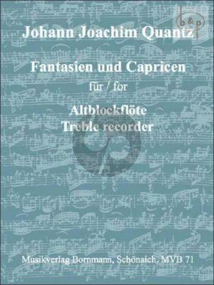 Quantz Fantasien und Capricen Altblockflote (Bornmann)