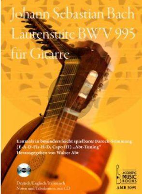 Bach Lautensuite BWV 995 Gitarre (Bk-Cd)