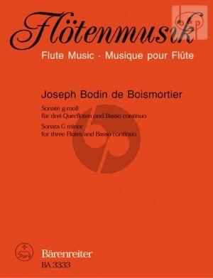 Sonate g-moll Op.34 No.1 (3 Flutes [Vi./Ob.]-Bc)
