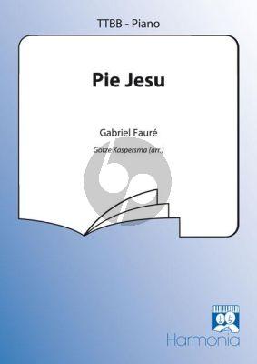 Faure Pie Jesu (uit Requiem) TTBB-Piano (arr. Kaspersma)