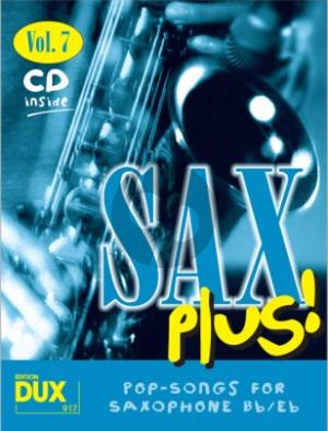 Album Sax Plus! Vol.7 - 8 World-Known Titles for Alto- or Tenor Saxophone (Book-Cd)