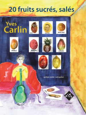 Carlin 20 fruits sucrés, salés pour Guitare