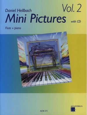 Hellbach Mini Pictures Volume 2 Dwarsfluit met Piano (Bk-Cd)