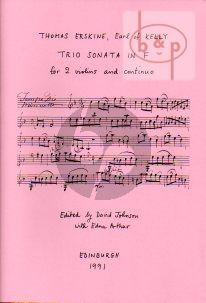Trio Sonata F-Major 2 Violins-Bc