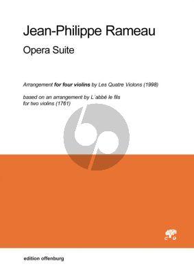 Rameau Opera Suite 4 Violinen (Part./Stimmen)