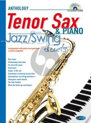 Anthology Jazz-Swing Duets Tenor Saxophone-Piano (Bk-Cd) (transcr. Andrea Cappelari)