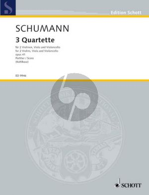 Schumann 3 Quartette Op.41 2 Vi.-Va.-Vc. (Parts) (edited by Hans Kohlhase)