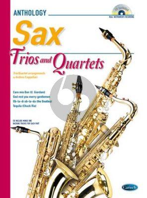 Trios & Quartets for Saxophones Bk-Cd (Score/Parts) (arr. Andrea Cappellari)