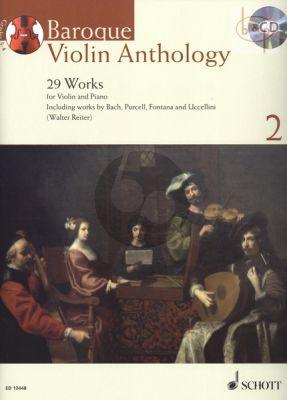 Baroque Violin Anthology Vol.2 (29 Works) (Violin-Piano)