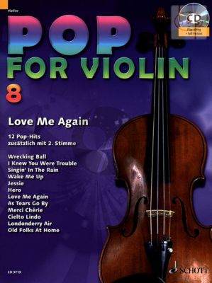 Pop for Violin Vol.8 Love Me Again (12 Pop Hits with a 2nd. Violin)