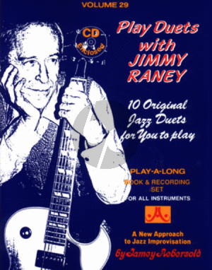 Raney Jazz Improvisation Vol.29 Play Duets with Jimmy Raney for Any C, Eb, Bb, Bass Instrument or Voice - Intermediate/Advanced (Bk-Cd)