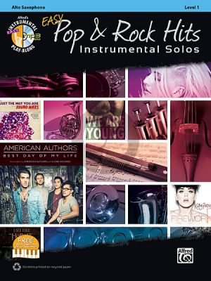Easy Pop & Rock Hits Instrumental Solos Alto Sax.  (Bk-Cd)