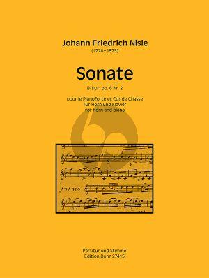Nisle Sonate B-dur Op.6 No.2 Horn-Klavier