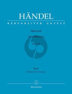 Messias / Messiah HWV 56 Soli-Chor-Orch. Violoncello/Kontrabass-Basso Continuo Stimme