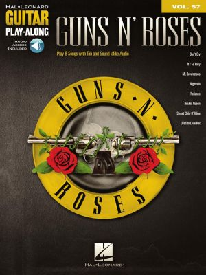 Guns N' Roses 8 Songs (Guitar Play-Along Volume 57) (Book with Audio online)