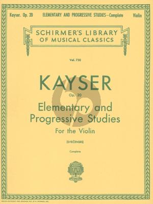 Kayser 36 Elementare & Progressive Studies Op.20 Violin (Louis Svecenski)