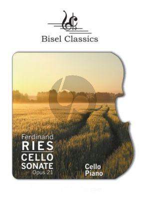 Ries Grande Sonate Op.21 (Pianoforte und Violoncello Obligato) (Editor Stephen Begley Score Only)