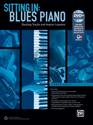 Gold Sitting In: Blues Piano (Backing Tracks and Improvisation) Book-DVD