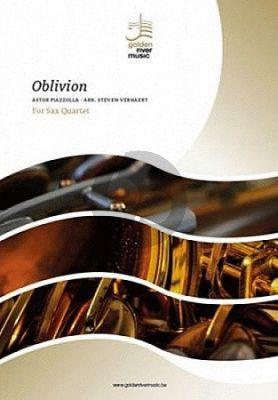 Piazzolla Oblivion 4 Saxophones (SATB) (Score/Parts) (Verhaert)
