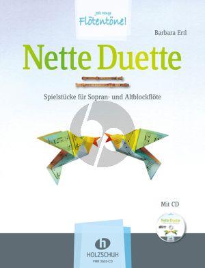 Erti Nette Duette Sorpan-Altblockflote Buch-Cd
