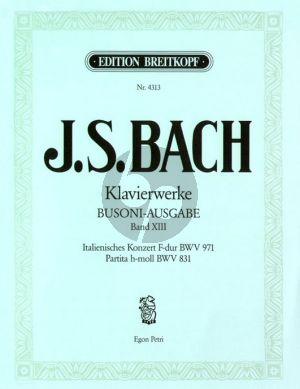 Italienisch Konzert F Dur BWV 971 und Partita h Moll BWV 831 Klavier