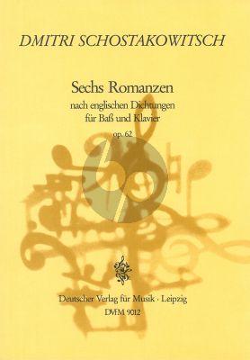 6 Romanzen nach englischen Dichtungen opus 62 Bass-Klavier