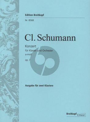 Schumann Konzert a-moll Op. 7 Klavier und Orchester (Klavierauszug) (Janina Klassen)