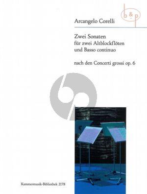 2 Sonaten F-dur nach Concerti Grossi Op.6
