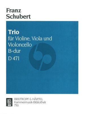 Schubert Trio No.1 B-flat major D.471 Violin-Viola- and Violoncello (Parts)