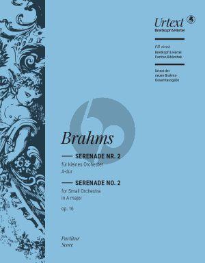 Brahms Serenade No. 2 Op. 16 Bläser und Streicher Partitur (Michael Musgrave)
