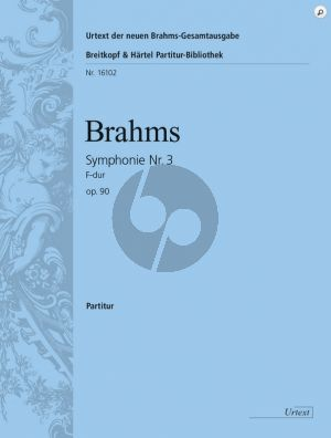 Brahms Symphony No. 3 in F major Op. 90 Fullscore (Urtext based on the new Complete Edition G. Henle Verlag) (edited by Robert Pascall [orch])