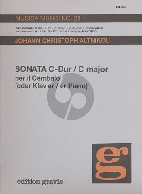 Altnikol Sonate C-dur Cembalo (Hollmann-Ratte)