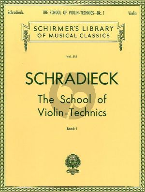 Schradieck School of Violin Technics Vol. 1