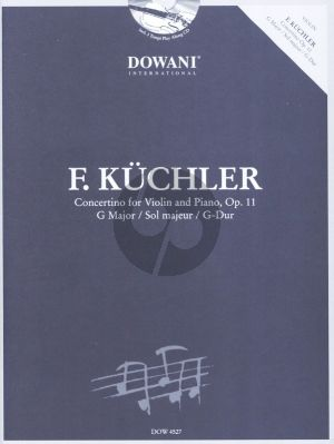Kuchler Concertino G-major Op.11 Violin-Piano (Bk-Cd) (Dowani 3 Tempi Play-Along)