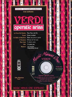 Verdi Operatic Arias for Soprano (Bk-Cd)
