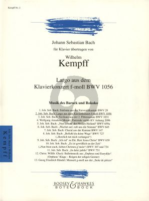 Largo aus Klavierkonzert f moll BWV 1056 Klavier Solo