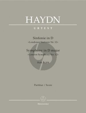 Haydn Symphony D major Hob.I :104 'London Symphony No. 12' (Fullscore)