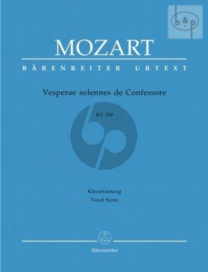 Vesperae solennes de Confessore KV 339 (Soli-Choir-Orch.) (Vocal Score)
