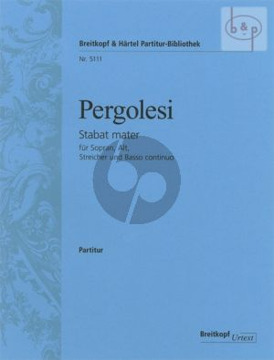 Stabat Mater (Sopr.-Alto soli-Female Choir-String Orch.) Orchestral Score