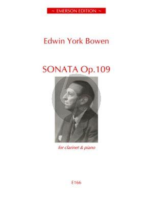 Bowen Sonata Op.109 Clarinet[Bb]-Piano