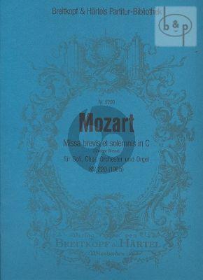 Missa Brevis KV 220(196b) (Spatzen-Messe) (Soli-Choir-Orch.)