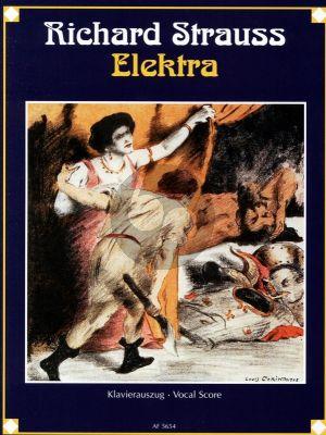 Strauss Elektra Op. 58 Klavierauszug (dt.) (Tragödie in einem Aufzug von Hugo von Hofmannsthal)