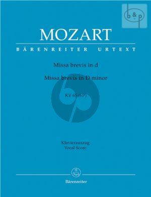 Missa Brevis d-moll KV 65 (61a) (Soli-Choir- Orch.) (Vocal Score)