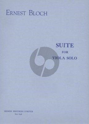 Bloch Suite Viola solo (1959)