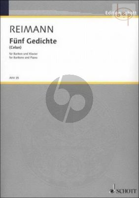 5 Gedichte (Paul Celan) (Baritone-Piano)