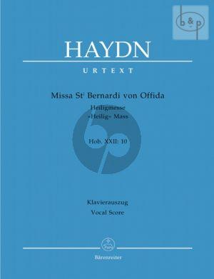 Missa sancti Bernardi von Offida (Heilig-Messe) (Hob.XXII:10) (Soli-Choir-Orch.)